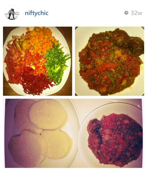 @niftychic - Yam and corned beef sauce recipe