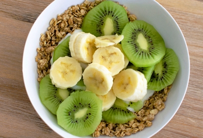 Kiwifruit enjoyed with cereals and other fruit blends