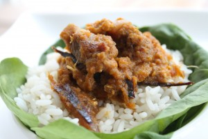 Ofada rice and ayamase stew