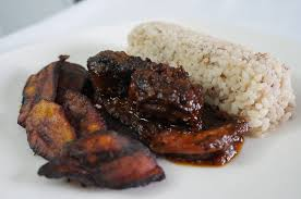 Ofada rice and Cow tail sauce