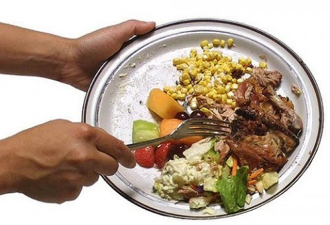 food waste and leftover