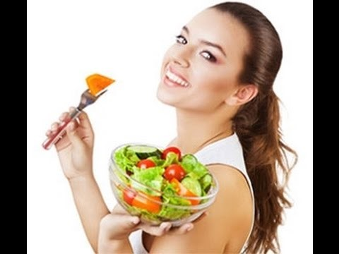 girl modelling healthy eating meals