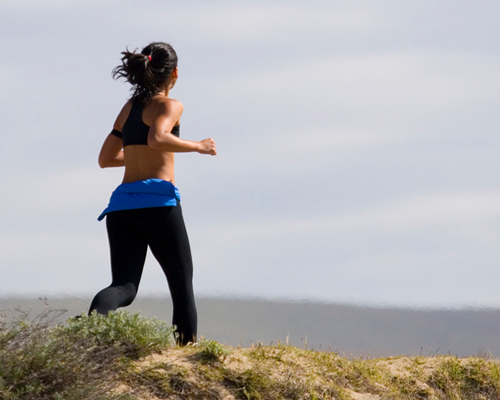lady in running exercise