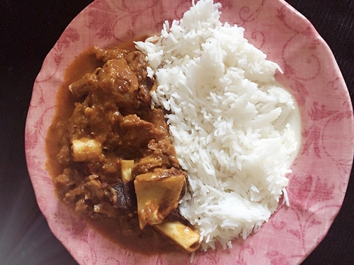 papaya chicken curry with rice