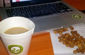 Mid-morning snack at the Diet234 office