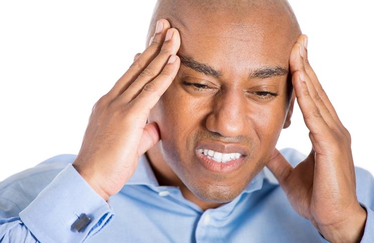 black-man under stress