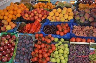 healthy fruits of various colours