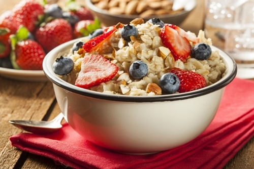 oatmeal and fruits