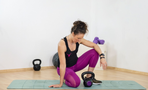 Woman in workout
