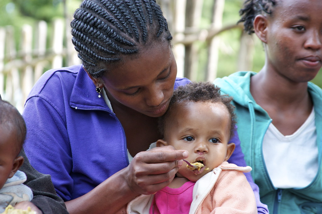 complementary foods fed to a baby